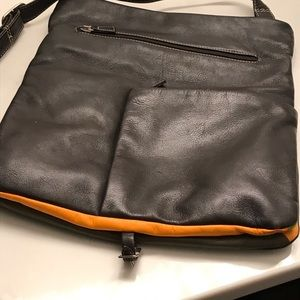 Leather crossbody that converts to backpack!
